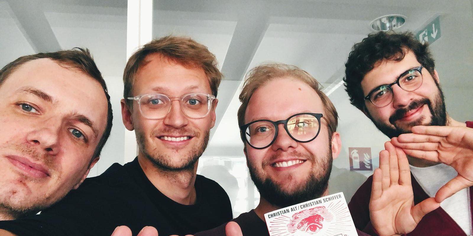 Christian Alt und Christian Schiffer im Gespräch mit Florian Lange und Benjamin Heinz bei der EduCouch