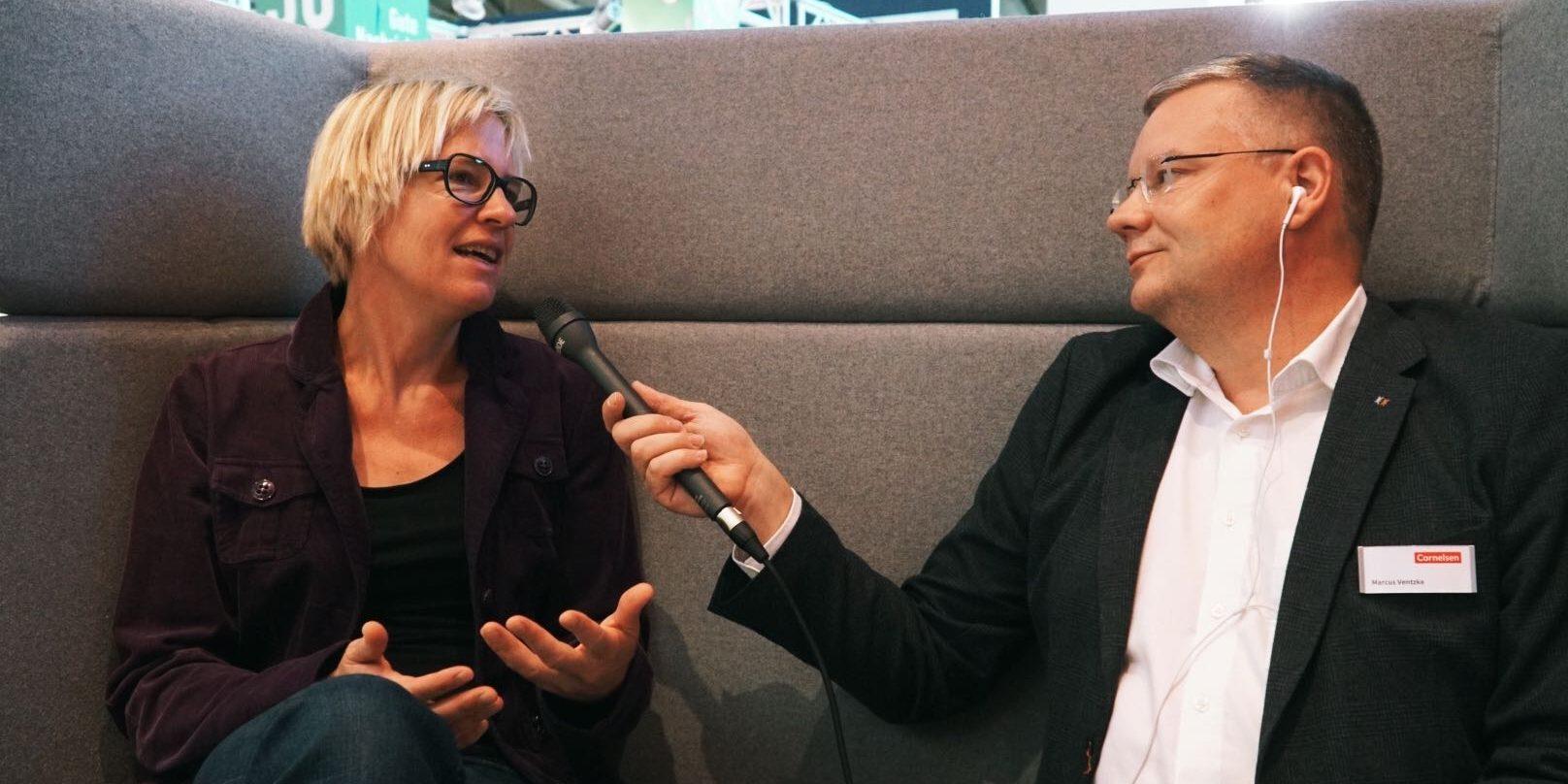 Eva Wolfangel im Gespräch mit Marcus Ventzke bei der EduCouch