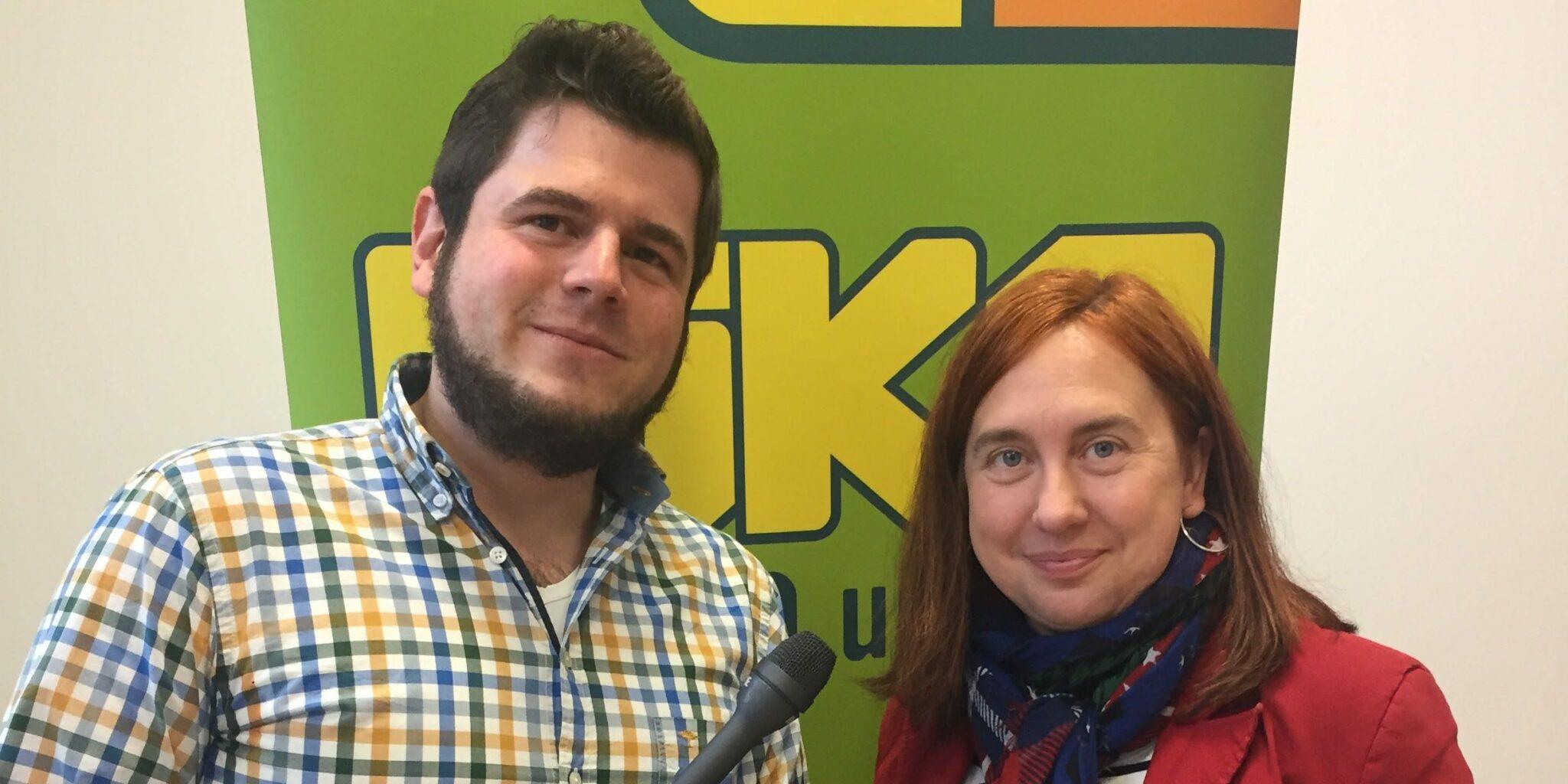 Astrid Plenk im Gespräch mit Max Trummer bei der EduCouch