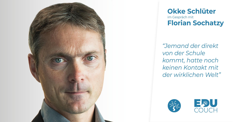 Okke Schlüter im Gespräch mit Florian Sochatzy bei der EduCouch