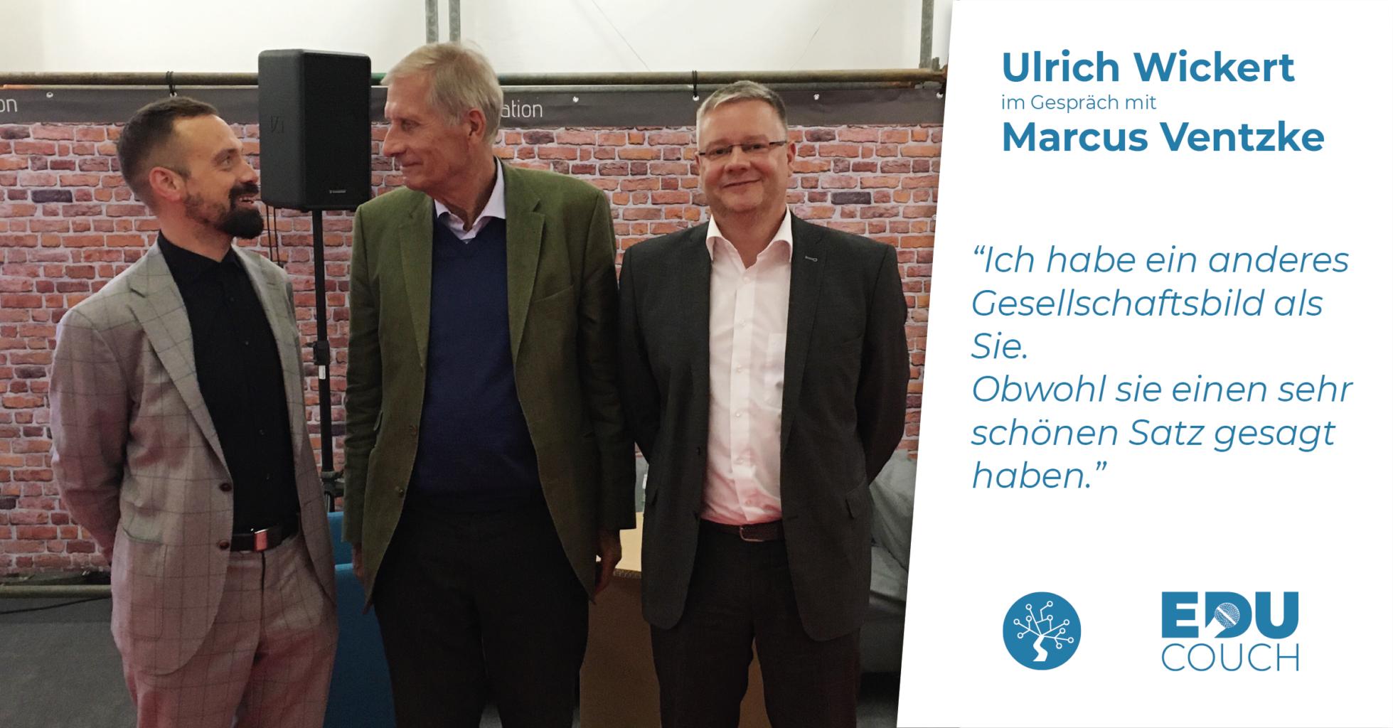 Ulrich Wickert im Gespräch mit Marcus Ventzke bei der EduCouch