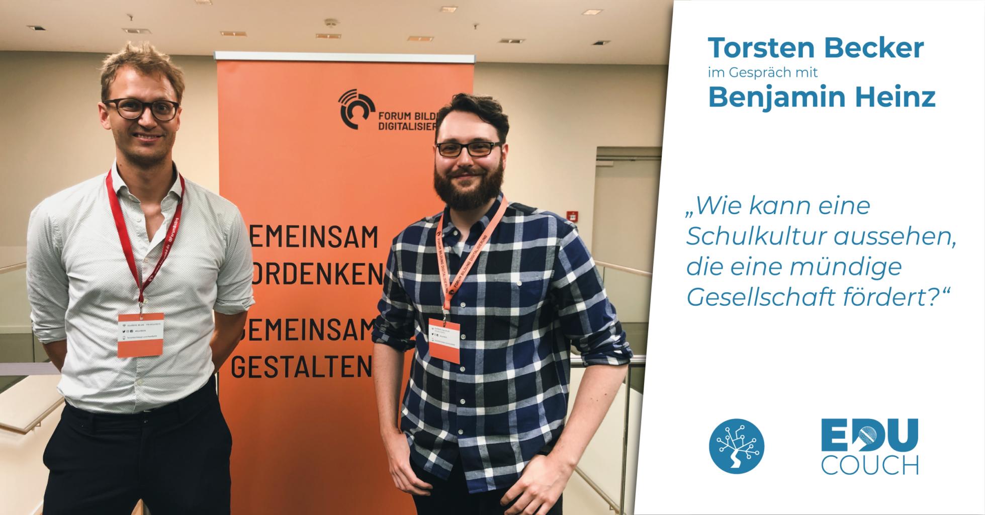 Torsten Becker im Gespräch mit Benjamin Heinz bei der EduCouch