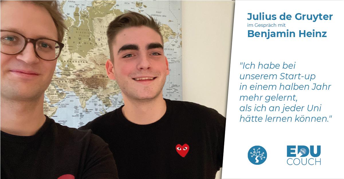 Julius de Gruyter im Gespräch mit Benjamin Heinz bei der EduCouch